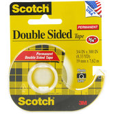 Scotch Permanent Double-Sided Tape - 3/4""